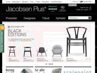 Earlier screenshot of jacobsenplus.dk