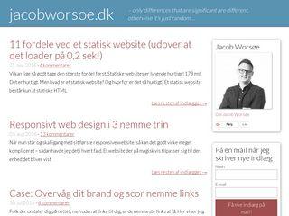Earlier screenshot of jacobworsoe.dk