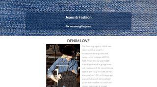 Earlier screenshot of jeansfashion.se