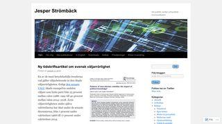 jesperstromback.org