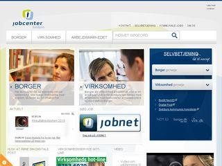Earlier screenshot of jobcentersyddjurs.dk