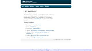 Earlier screenshot of jw-webbdesign.se