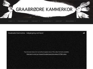 Earlier screenshot of kammerkor.dk