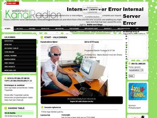 Earlier screenshot of kanalradion.se