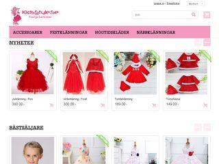 Earlier screenshot of kidsstyle.se