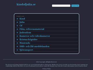 Earlier screenshot of kindofjulia.se