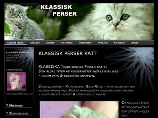 Earlier screenshot of klassiskperser.n.nu