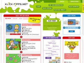 Earlier screenshot of klick-tipps.net