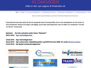 Earlier screenshot of kloakviden.dk