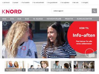 Earlier screenshot of knord.dk