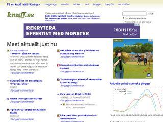 Earlier screenshot of knuff.se