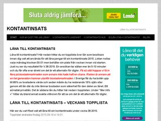 Earlier screenshot of kontantinsats.se