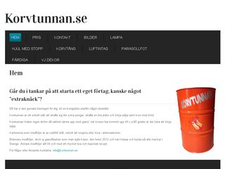Earlier screenshot of korvtunnan.se
