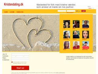 Earlier screenshot of kristendating.dk