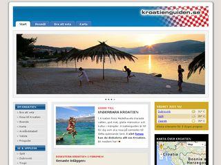 Earlier screenshot of kroatienguiden.se