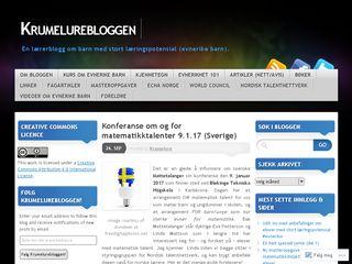 Earlier screenshot of krumelurebloggen.no
