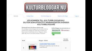 Earlier screenshot of kulturbloggar.nu