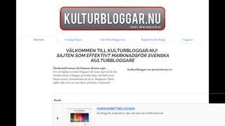 Earlier screenshot of livshantverk.bloggproffs.se