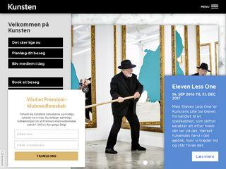 Earlier screenshot of kunsten.dk
