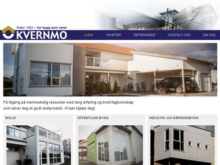 Earlier screenshot of kvernmo.no
