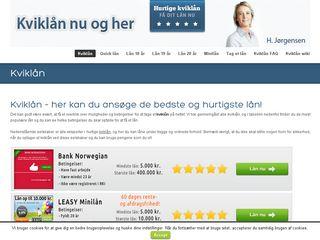 Earlier screenshot of kviklaan-nu.dk