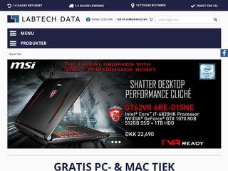Earlier screenshot of labtech.dk