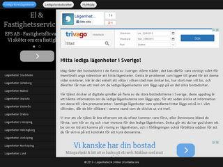 Earlier screenshot of lagenheter24.se