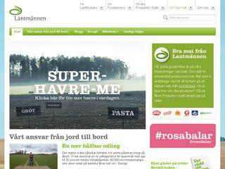 Earlier screenshot of lantmannen.se