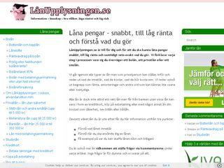 Earlier screenshot of lanupplysningen.se