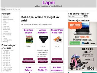 Earlier screenshot of lapni.dk