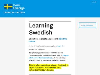Preview of learningswedish.se