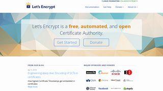 letsencrypt org | Domainstats com