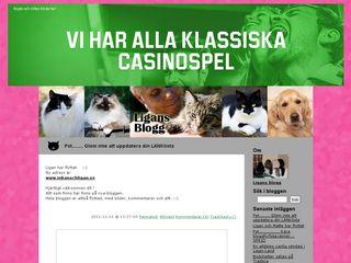 Earlier screenshot of ligans.blogg.se