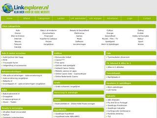 Earlier screenshot of linkexplorer.nl