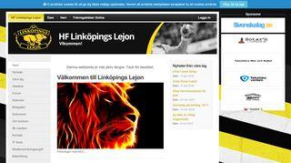 Earlier screenshot of linkopingslejon.se