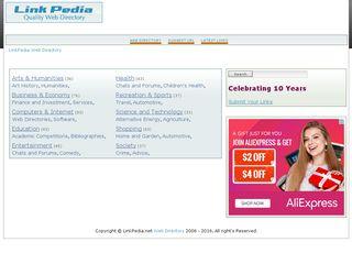 Earlier screenshot of linkpedia.net