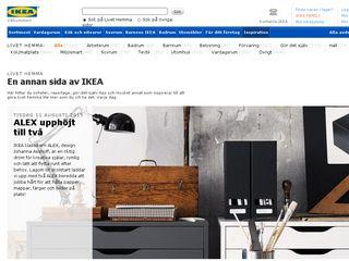 Earlier screenshot of livethemma.ikea.se