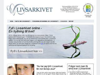 Preview of livsarkivet.se