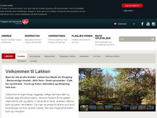 Earlier screenshot of loekken.dk