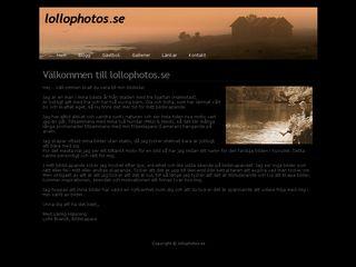 Earlier screenshot of lollophotos.se