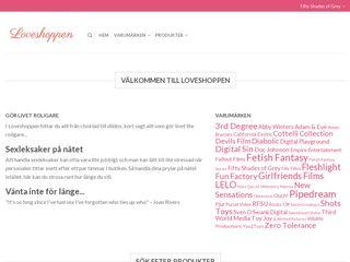 Earlier screenshot of loveshoppen.se