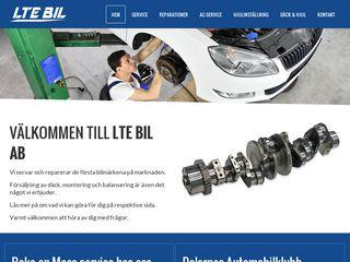 Earlier screenshot of ltebil.se