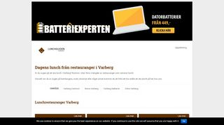 Earlier screenshot of lunchguidenvarberg.se