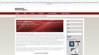 Earlier screenshot of m2tech.net