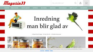 Earlier screenshot of magasin11.se