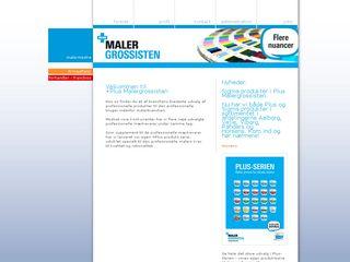 Earlier screenshot of malergrossisten.dk