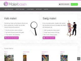 Earlier screenshot of maleribasen.dk