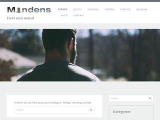 Earlier screenshot of mandens.dk