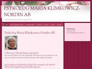 mariaklimkowicznordin.se