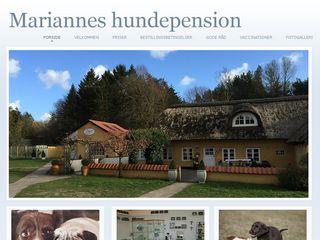 Earlier screenshot of mariannes-hundepension.dk